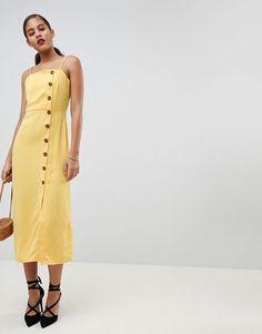 Fashion Union Tall | Fashion Union Tall - Robe d'été à fines bretelles boutonnée devant