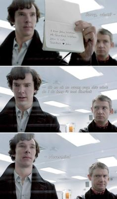 Stop nicking The Doctor's psychic paper, Sherlock...