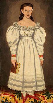 Girl of the Bangs-Phelps Family by Erastus Salisbury Field