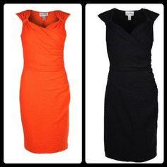 Joseph Ribkoff | Orange | Black | Sheath | Stretch | Dress #springracingcarnival