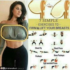 Exercises to elevate boobs