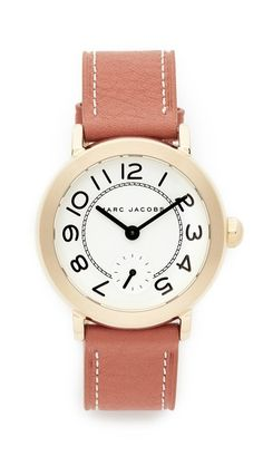 2e09fc72f53e MARC JACOBS Riley Leather Watch.  marcjacobs  watch
