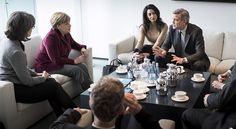 George and Amal Clooney Sit Down With German Chancellor Angela Merkel to Discuss Refugee Crisis
