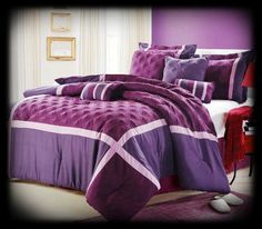 12 Piece Luxury Bedding Set Includes:  1 Comforter  2 Pillow Shams  2 Decorative Pillows  2 Bonus Pillows  1 Skirt  1 Flat Sheet  1 Fitted Sheet  2 Pillow Cases  http://www.rusticcabin-homedecor.com/Bedding-Bed-in-a-Bag.html
