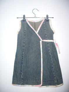 Refashion Girls Denim Wrap Dresses