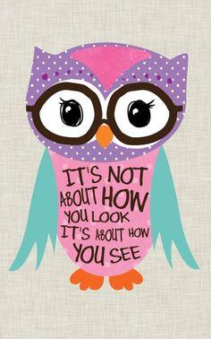 Tween Girl Art, Owl art, Nerd Owl. Home Decor, Inspirational Art, art print on wood by Jennifer McCully