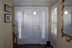 Plantation Shutters for French Doors Entry Traditional with Cafe Shutters Corner Window