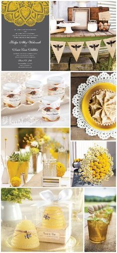For a more rustic feel, accent your Honey Gold wedding with our lovely bee themed favors!