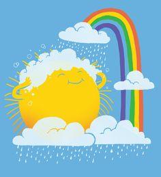 Rainy day Canvas Print by digitalorgasm Illustrations, Canvas Prints, Art Prints, Cute Illustration, Cute Cartoon, Cute Drawings, Cute Art, Cute Pictures, Graffiti