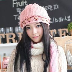 Lovely beanie hats Hairball decoration knit hats for women
