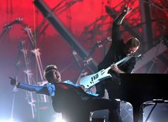 Lang Lang and James Hetfield of Metallica perform on the 56th Annual GRAMMY Awards on Jan. 26 in Los Angeles