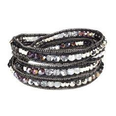 Nakamol Design Opal Crystal & Onyx Friendship Bracelet