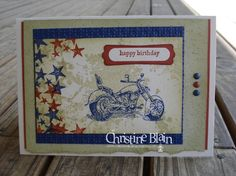 motorcycle and extreme elements - great idea for a teen's card, OR for passing motor cycle exam!