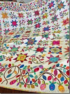 Stars & Sprigs - Kim Mclean pattern using Kaffe fabrics