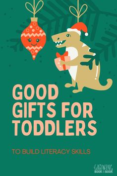 Need a holiday gift for a toddler that is fun, hands-on, and builds learning skills?  Try these literacy themed gifts for toddlers. #toddlers #giftsfortoddlers #Christmasgiftideas Christmas Treats For Gifts, Kids Christmas, Holiday Gifts, Christmas Ornaments, Cool Gifts, Best Gifts, Bookshelves Kids, Thoughts And Feelings, Book Activities