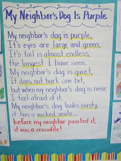 Lacy's Letters: My Neighbor's Dog is Purple - Visualizing