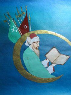 İsmail Hakkı Bursevi Minyatür Nazmi Kişioğlu Ottoman Empire, Weapons, Miniatures, Kids Rugs, Deen, Painting, Home Decor, Weapons Guns, Guns