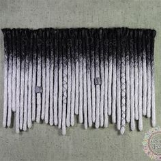 This short black and silver SE Dreadlock has finished  for L 😎 This is around 10inches long with thick ending. 💕 Thank you so much and we are so excited to see when you install it 💜❤👌 Hi🙋Lovely people come and look around our updating works.💁💗💓 www.etsy.com/SiberianDreads/updates 👈