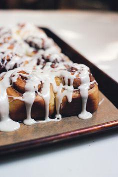 No Knead Challah Cinnamon Rolls — Apt. Baking Co. Croissants, Just Desserts, Dessert Recipes, Breakfast Desayunos, Breakfast Options, Biscuits, Muffins, Brunch, Challah