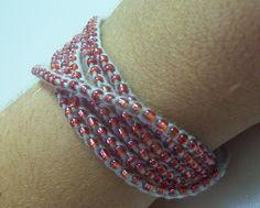 The Philosopher's Wife: Beaded Crochet Wrap Bracelets