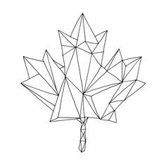 25 Ideas Canadian Maple Tree Tattoo Tat For 2019 Geometric Tattoo Tree, Geometric Trees, Geometric Drawing, Geometric Flower, Geometric Art, Leaf Coloring Page, Coloring Pages, Hilograma Ideas, Maple Leaf Tattoos
