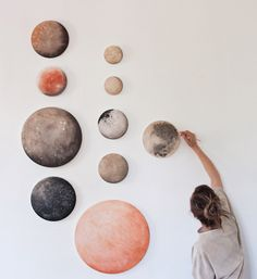 moons of Jupiter, Saturn, and Earth | Stella Maria Baer