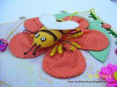 пчелка из фетра и ткани развивающая игрушка