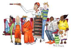 Long haul, cattle class Dip Pen, Magazine Editorial, Long Haul, Cattle, Family Guy, Watercolor, Comics, Fictional Characters, Gado Gado