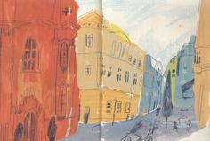 Budapest drawings - Charlotte Ager illustration
