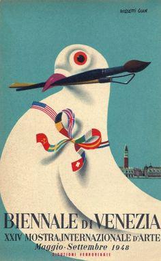 Gian Carlo Rossetti (1920-) – Affiche pour la Biennale de Venise (1948)