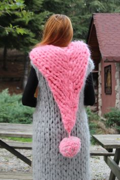 Super Chunky Knit Mohair Cardigan // Cape Hoodies by TheKnitBeyond