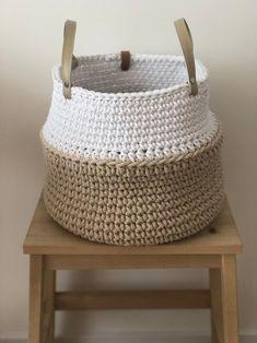 Items similar to Large crochet home storage basket Big nursery basket Crochet flower pot on Etsy Crochet Home, Free Crochet, Knit Crochet, Knit Basket, Basket Weaving, Crochet Baskets, Crochet Storage, Crochet Market Bag, Ideias Diy