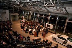 Inaugurazione del nuovo showroom #Audi in co-marketing con #Chopard e #Riva, ospite il Maestro Angeleri accompagnato dall'Orchestra delle Tre Venezie. (Ottobre 2011)