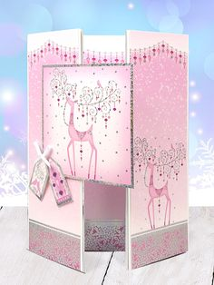 This card is delightful. Who can say no to glitter and glamour, especially at this time of year! This card was made using the Festive Splendour Collection. Die Cut Christmas Cards, Christmas Fun, Handmade Christmas, Kanban Cards, Hunkydory Crafts, Craftwork Cards, Folded Cards, 3d Cards, Create And Craft