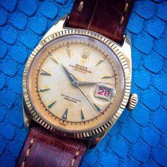 Vintage Datejust @iconicpieces.com #rolex #datejust #vintage #gold #perpetual