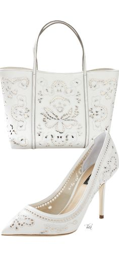 Dolce And Gabbana ● 2014, Cutout Pump & Tote