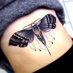 Moth tattoo #tattoo #ink