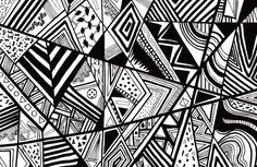 triangle patterns abstract