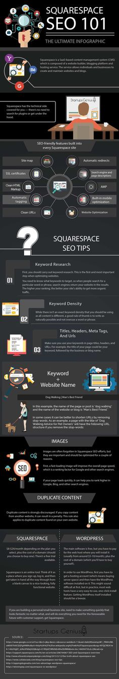 """""""Is it possible to achieve good SEO with my Squarespace site?"""" Google that question, or a variant of it, and you'll find two things. First, there are a lot of people asking that question. Second, there's an abundance of content giving answers. So why did I decide to create this infographic? Well, since there's already a plethora of good information out there regarding Squarespace and SEO, it's not because I thought my answers needed to be heard. #infographics"""