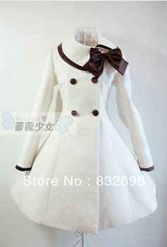 New Sweet Wool Winter Sailor Lolita Dress Girls Winter Coat Princess M .- New cute wool winter sailor lolita dress girls winter coat princess girls coat girls winter coats Pretty Outfits, Pretty Dresses, Beautiful Dresses, Cute Outfits, Emo Outfits, Kawaii Fashion, Lolita Fashion, Cute Fashion, Fashion Coat