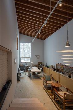 makoto suzuki's house in tokiwa comprises a series of timber cabins