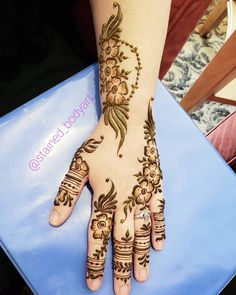 #henna from The Henna Society Conference, November 2018 Design inspired by #Boho Ring Enchantment ebook for henna artists