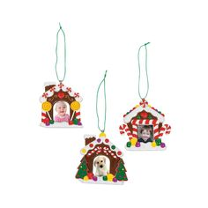 Gingerbread House Picture Frame Christmas Ornaments