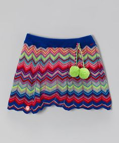 Take a look at this Blue & Pink Zigzag Stripe Skirt - Toddler & Girls by Mim Pi on #zulily today!