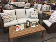 Lloyd Flanders - Weekend Retreat Sofa, Lounge Chair, Teak coffee and end tables.