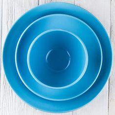 Medium Blue Ceramic Alfa Dinnerware - DISHWARE - DINING + KITCHEN