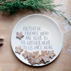 I love this: Faithful Friends Serving Plate by Shanna Murray and Pigeon Toe