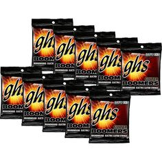 GHS Boomers Extra Light Electric Guitar Strings (10-Pack)