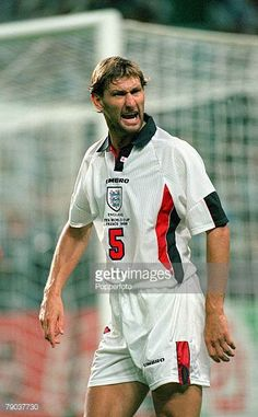 World Cup 1998 Finals St Etienne France 30th June England 2 v Argentina 2 Tony Adams England during the match