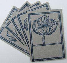letterpress, linocut  labels by ruby victoria, via Flickr